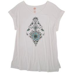 Womens {rint Design Short Sleeve Shirt