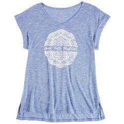 Womens Don't Hate Meditate Short Sleeve Shirt
