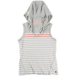 Calvin Klein Womens Hooded Tank Top