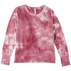 VOGO Womens Tie-Dye French Active Long Sleeve Top