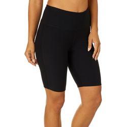 VOGO Womens Knit Solid Bike Shorts