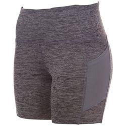 VOGO Womens Space Dye Mesh Pocket Bike Shorts
