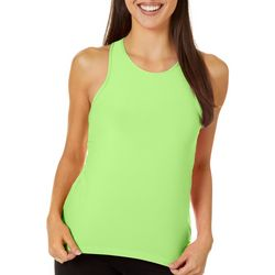 VOGO Womens Solid Mesh Back Keyhole Tank Top