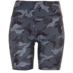 Womens Camo Biker Shorts