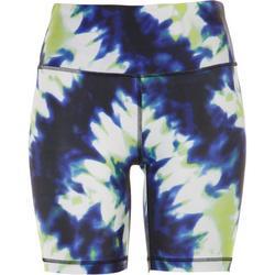 Womens Everyday Tye Dye Biker Shorts