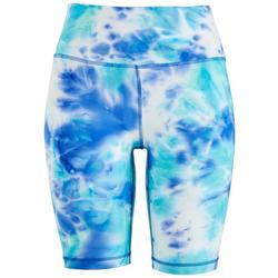 Womens Tie-Dye Active Biker Shorts