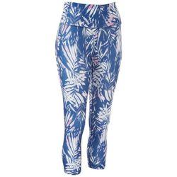 VOGO Womens Palm Printed Capri Leggings