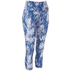 Womens Palm Printed Capri Leggings