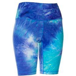 VOGO Womens Tie Dye Pull On Bike Shorts