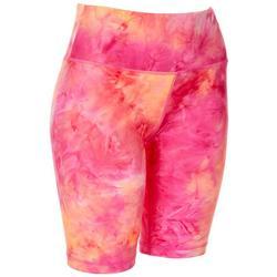 Womens Tie Dye Pull On Bike Shorts