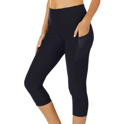VOGO Womens Solid Mesh Pocket Performance Capris