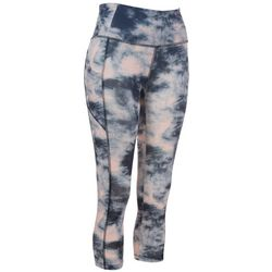 VOGO Womens Tie Dye Mesh Pocket Performance Capris