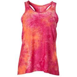 VOGO Womens Tie Dye Scoop Neck Racerback Tank Top