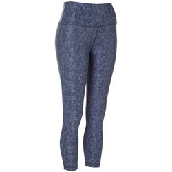 VOGO Womens Texture Print Solid Performance Capris