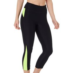 Womens Colorblock Panel Performance Capris