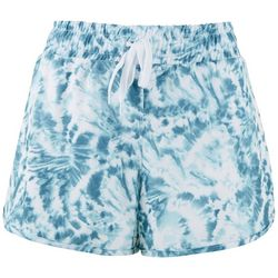 RBX Womens Stretch Woven Tie-Dye Active Shorts