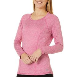 Womens Solid Heathered Long Sleeve Top
