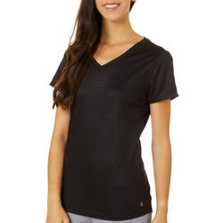 RBX Womens Subtle Geometric V-Neck Top