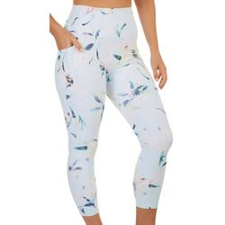 Womens Peach Printed Active Leggings