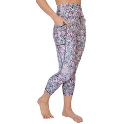 RBX Womens All-over Floral Active Capris
