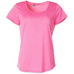 RBX Womens Solid Jersey Knit Round Neck Top