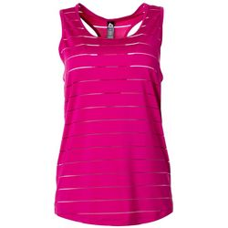 RBX Womens Solid Shadow Mesh Stripe Tank Top