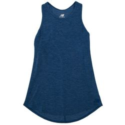 New Balance Womens Heathered Racerback Tank Top