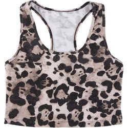 Evolution And Creation Womens Cheetah Workout Top