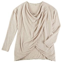 MAX STUDIO Womens Solid Pullover With Criss Cross Detail