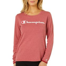 Champion Womens Classic Heathered Long Sleeve T-Shirt