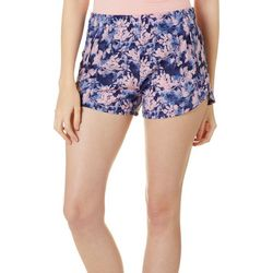 RB3 Active Womens Floral Print Athletic Shorts