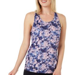 RB3 Active Womens Floral Mesh Panel Tank Top