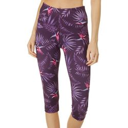 RB3 Active Womens High Waist Bird Of Paradise Capri Leggings