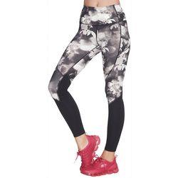 Skechers Womens Ink Floral Colorblock Leggings
