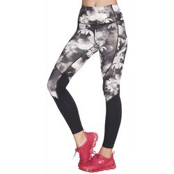 Womens Ink Floral Colorblock Leggings