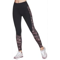 Womens Cascade Print High Waisted Ankle Leggings