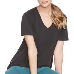 Womens Tranquil Solid V-Neck T-Shirt