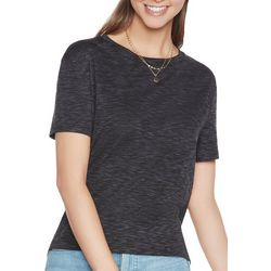 Skechers Womens Vibe Cowl Back Solid Short Sleeve Top