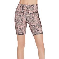 Womens Ravenous Print Bike Shorts