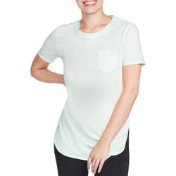 Skechers Womens Solid Round Neck Tunic T-Shirt