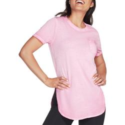 Womens Solid Round Neck Tunic T-Shirt