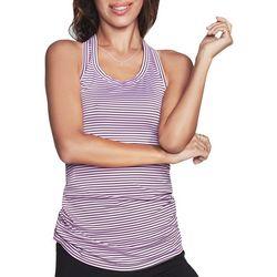 Skechers Womens Dart Striped Singlet Tank Top