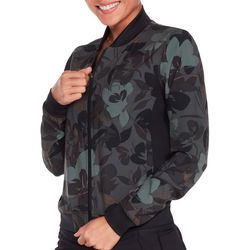 Skechers Womens Camo Floral Bomber Jacket