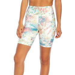 Jessica Simpson Womens Multi Color Tie-Dye Bike Shorts