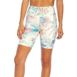 Womens Multi Color Tie-Dye Bike Shorts