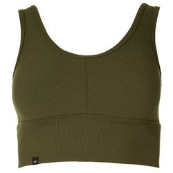 Women's Ribbed Solid Padded Sports Bra