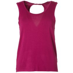 Jessica Simpson Womens Solid Cutout Tank Top