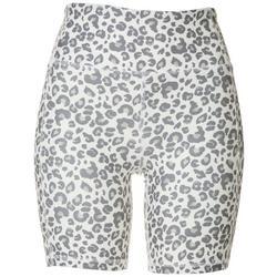 Womens Leopard Print High Waisted Bike Short