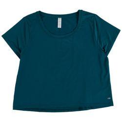 Marika Womens Solid Short Sleeve Top