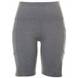 Marika Womens High Waisted Biker Shorts With Pockets